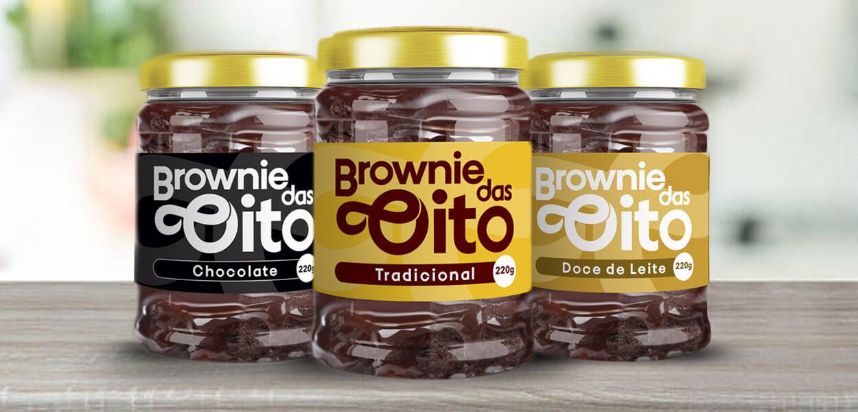 projeto gráfico embalagem brownie das oito