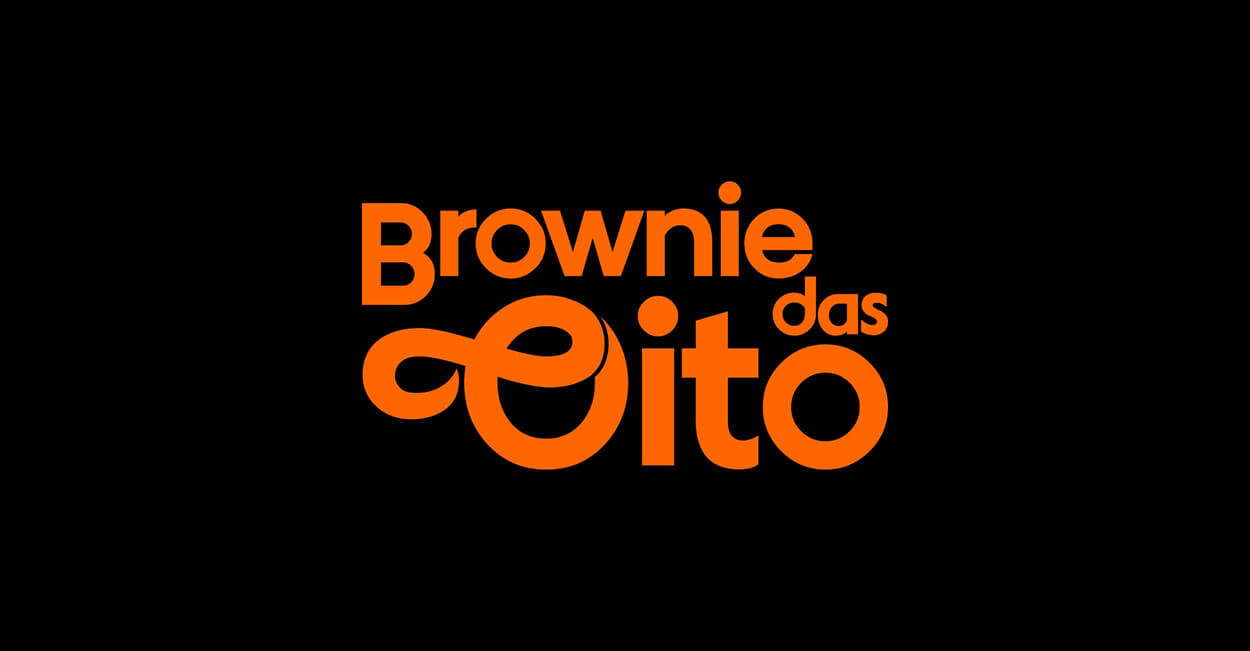 projeto de logotipo brownie das oito