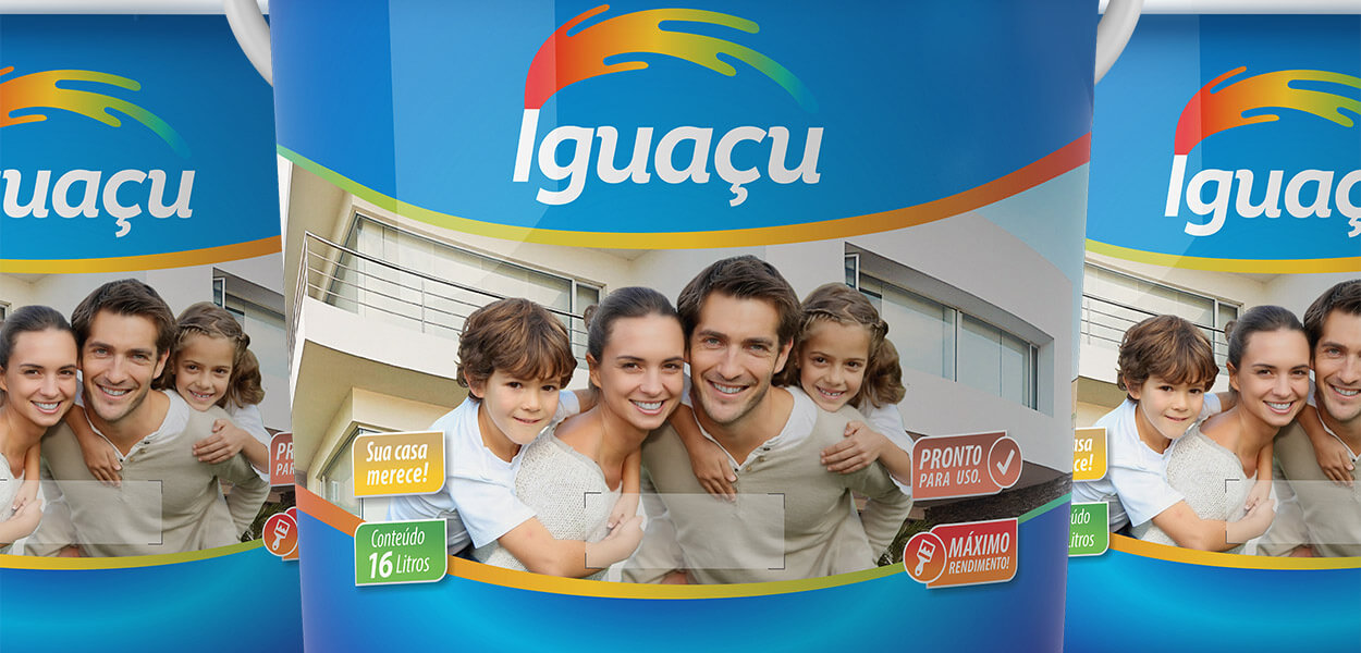 projeto gráfico embalagem tintas iguaçu
