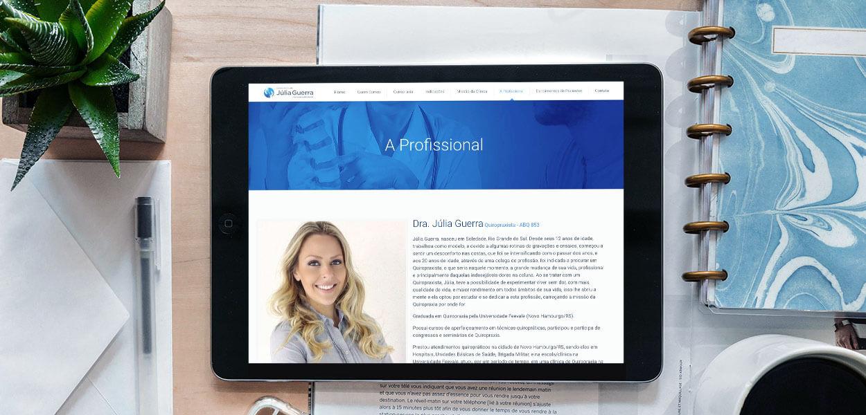 website clínica da coluna júlia guerra