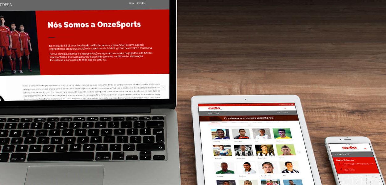 website onze sports agenciamento de jogadores de futebol