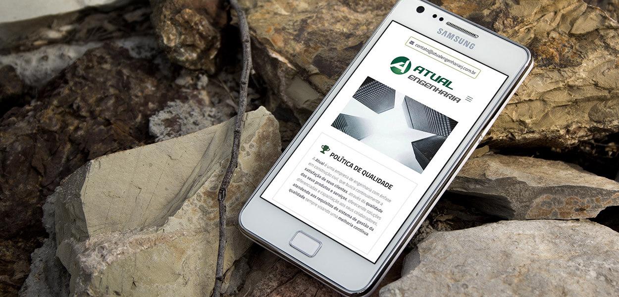 website mobile atual engenharia rj