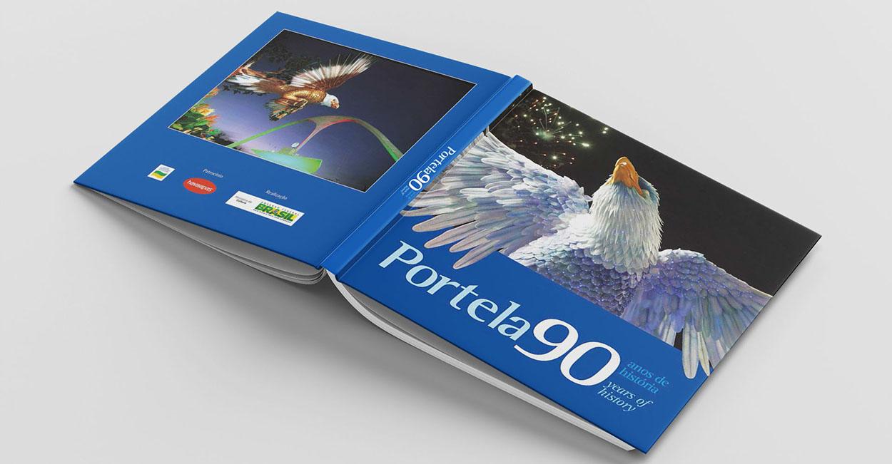 projeto gráfico livro portela 90 anos